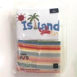 NWT Gap 2pc Island Pajamas Size 3 3T Sleepwear New